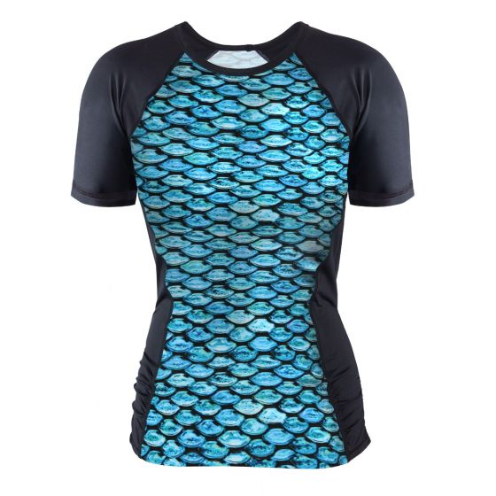 Tidal Teal Rash Guard Tee