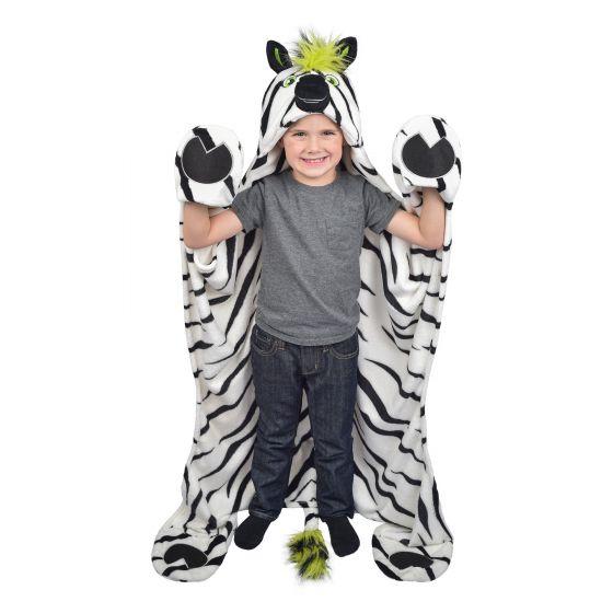wearable zebra blanket
