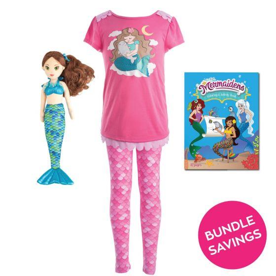 Mermaid Pajama & Zoey Doll Gift Set