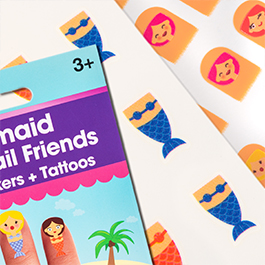 Mermaid Fingernail Friends