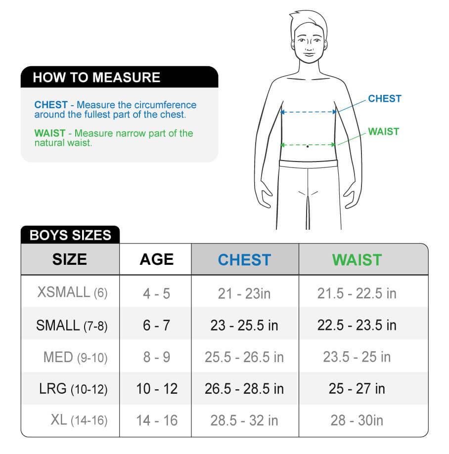 boys size chart